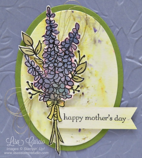 Video tutorial to teach you the basics of Brusho watercolor crystals. Close up sample uses Lots of Lavender by Stampin' Up!