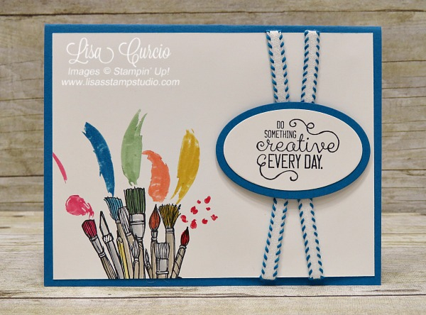 Crafting forever, housework never! Every crafters dream slogan. These brushes are loaded with color and ready to paint. Stampin' Up!