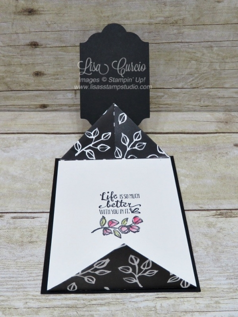Video tutorial! Open view. Create a double point fold using the Petal Palette stamp set. Stampin' Up!