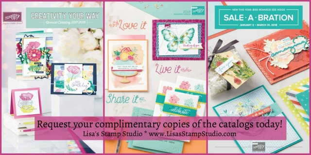 Request complimentary copies of the Stampin' Up! Catalogs. Lisa's Stamp Studio.