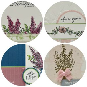 Lots of Lavender Card Collection PDF tutorial with 4 different cards. Stampin' Up! Sale-A-Bration 2018. Lisa's Stamp Studio
