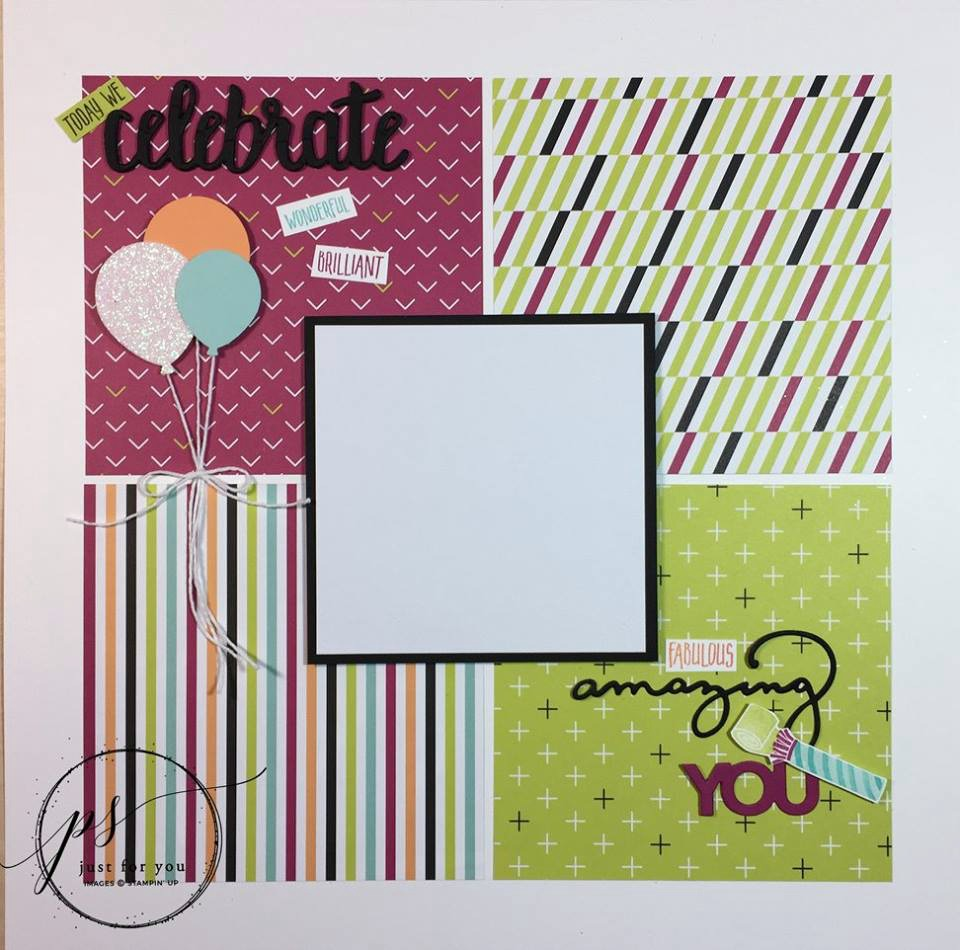Picture Perfect Birthday Scrapbook Layout Tutorial