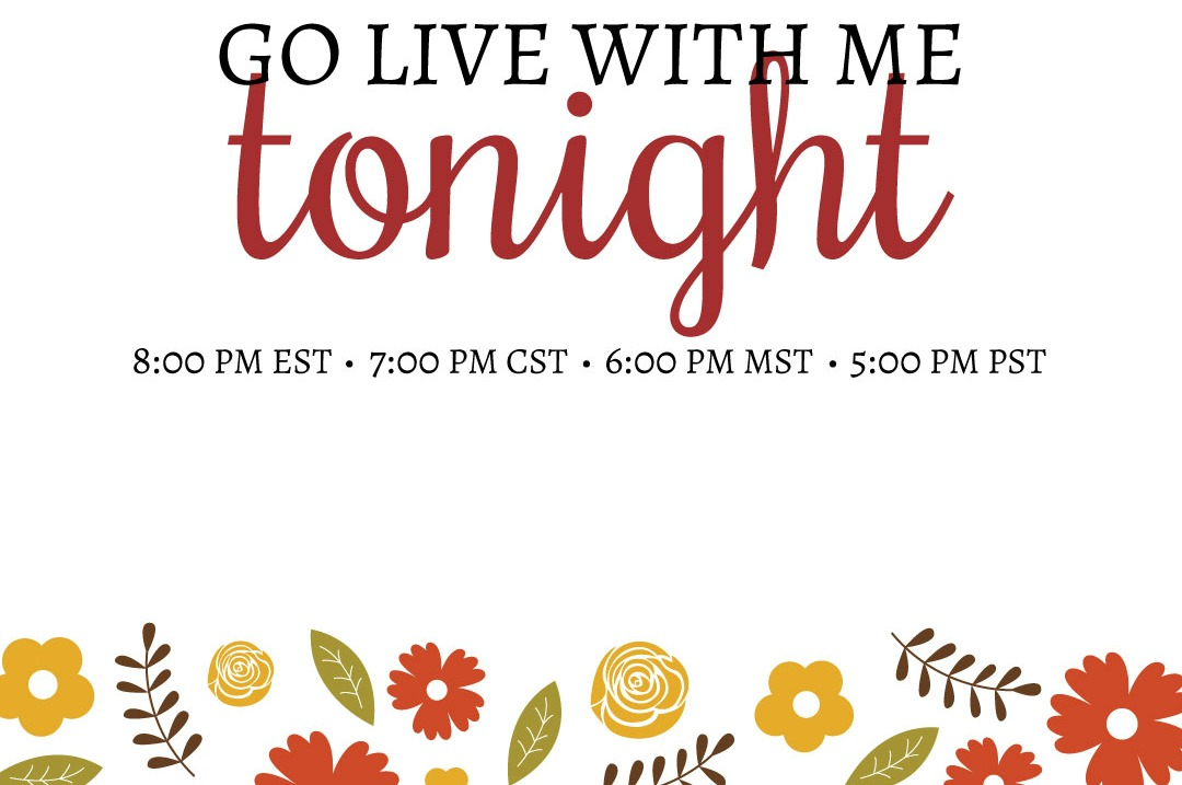 Join me for a Live paper crafting on YouTube tonight! Lisa's Stamp Studio