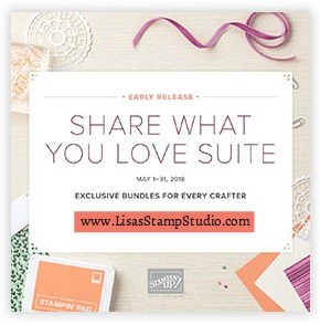 Share What You Love Promotion May 1-31. Stampin' Up!