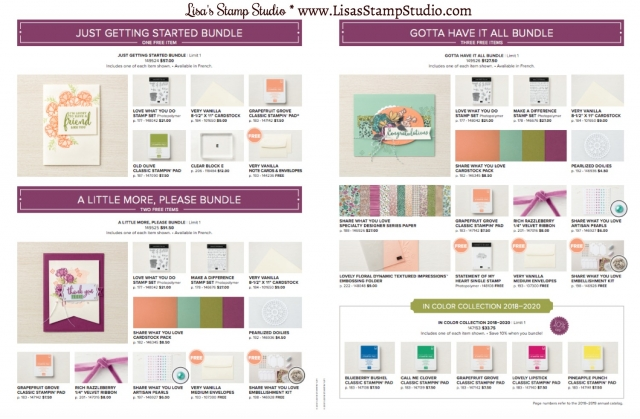 Share What You Love Bundle and 2018-2020 In Color ink pad promotion. Stampin' Up!