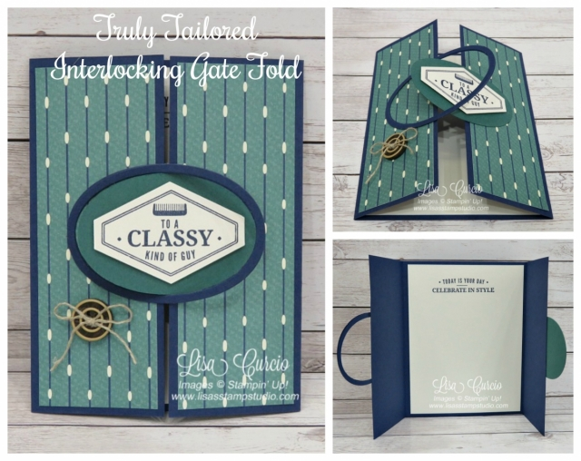 Video tutorial! Truly Tailored Interlocking Gate Fold. Collage perfect for your Pinterest board.