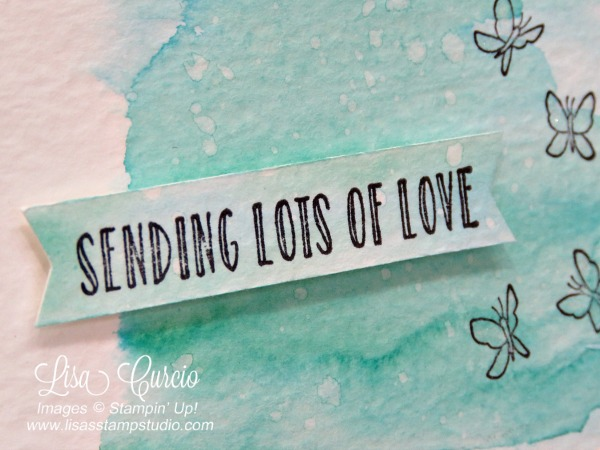 Sending lots of love is the theme of this Autism Blog hop submission. Stampin' Up! Hanging Garden view of the banner greeting.