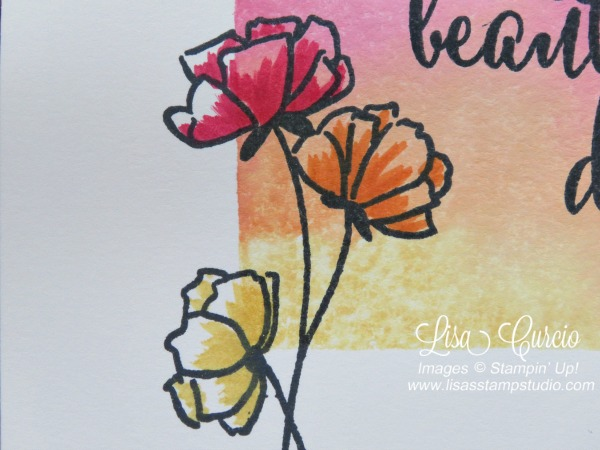 Video tutorial for the clear block stamping technique using Stampin' Up!'s Love What You Do stamp set.