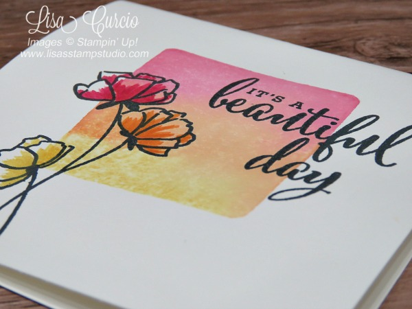 Video tutorial for the clear block stamping technique using Stampin' Up!'s Love What You Do stamp set. Aerial view