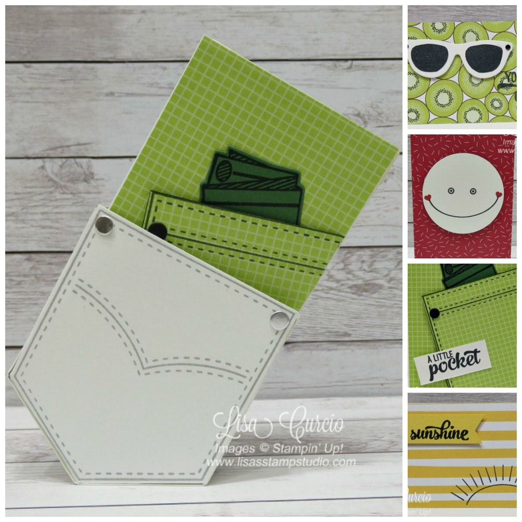 Pocketful of Sunshine Card Collection (Use with any designer paper!) $6