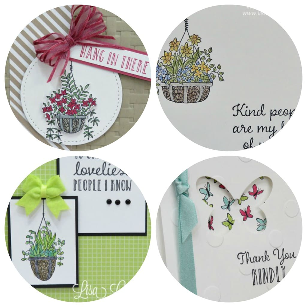 Hanging Garden Card Collection (Use with any designer paper!) $6