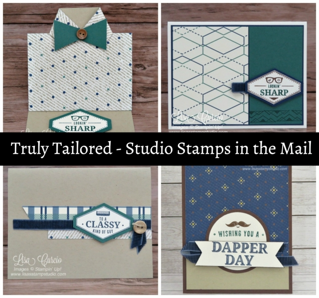 Free card kit with purchase to make 8 cards. Truly Tailored Bundle. Studio Stamps in the Mail.