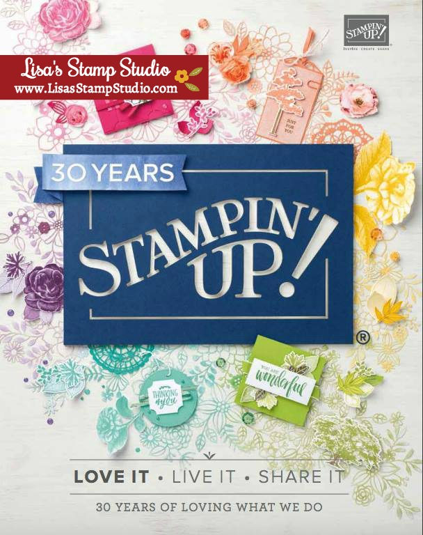 2018 Stampin' Up! catalog with Lisa's Stamp Studio. Exclusive and generous online ordering rewards.