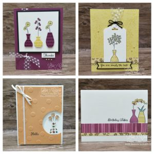 Varied Vases Card Collection PDF Tutorial. Lisa's Stamp Studio