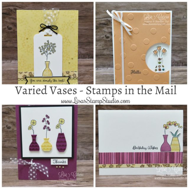 June 2018 Studio Stamps in the Mail free kit with a $50 purchase. Varied Vases Bundle. Lisa's Stamp Studio