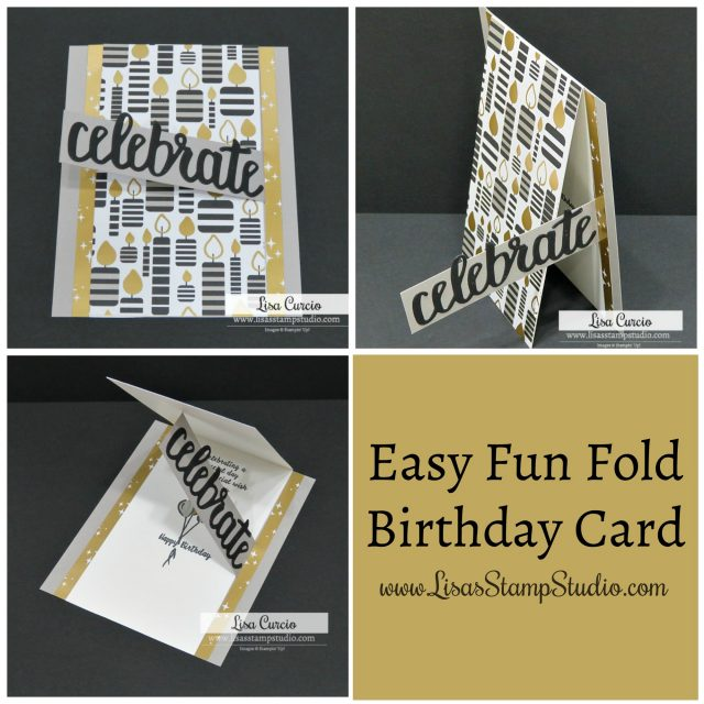 Video tutorial for an easy fun fold birthday card. Stampin' Up! Wonderful Moments. Picture collage