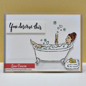 Bubbles in the Bathtub Card Tutorial