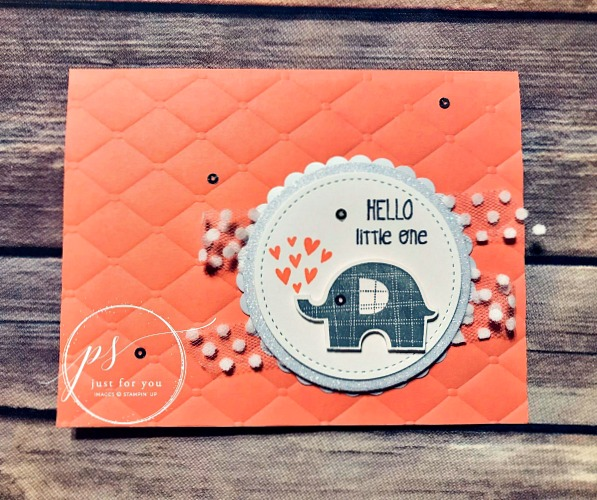 Free tutorial! Elephant baby card. Little Elephant by Stampin' Up!