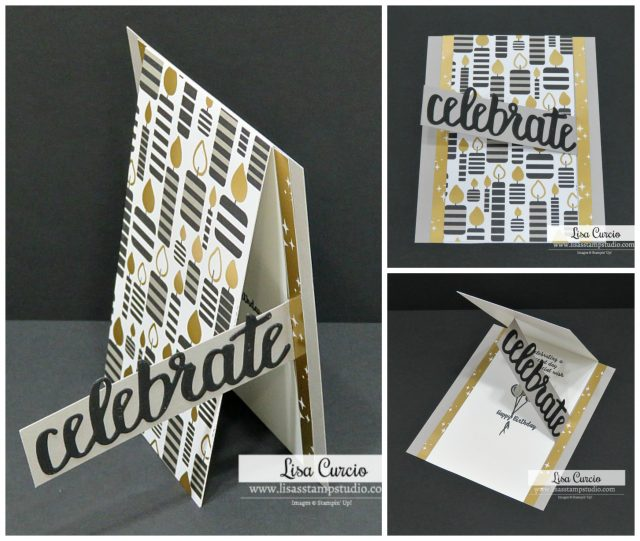Video tutorial for an easy fun fold birthday card. Stampin' Up! Wonderful Moments