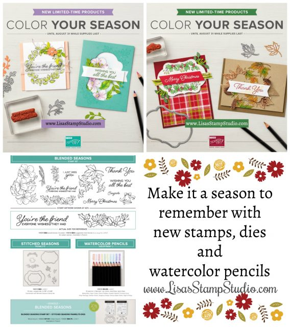 Color Your Season - limited edition stamps, stitched dies and new color watercolor pencils. Stampin' Up!
