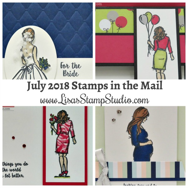 July free card kit features the Wonderful Moment stamp set. Stamps in the Mail. Lisa's Stamp Studio