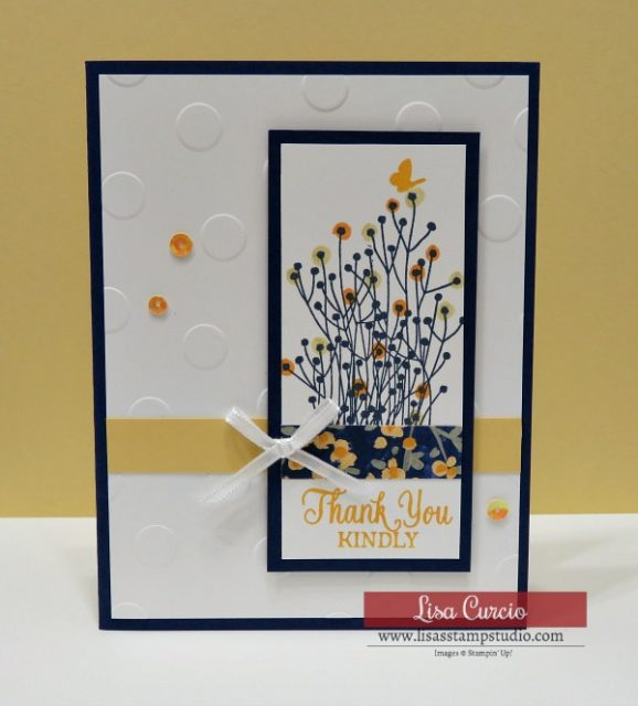 Floral Thank You card. Enjoy Life by Stampin' Up!