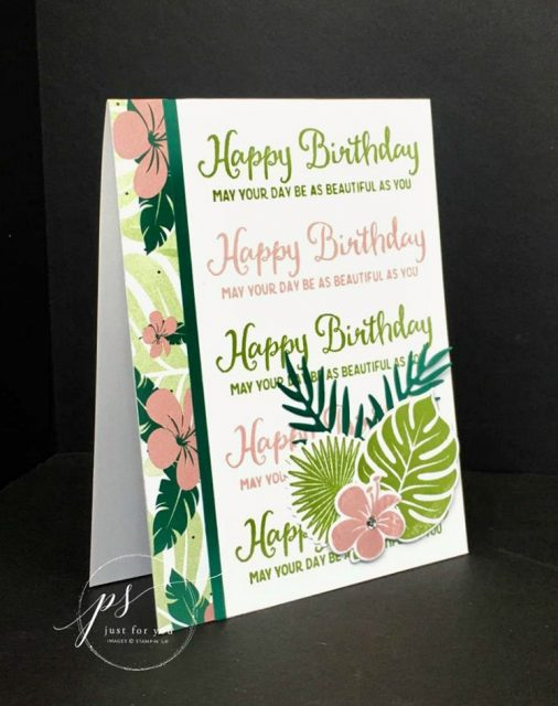 Free tutorial! Hinge stamping using the Stamparatus and the Tropical Chic Bundle. Stampin' Up!