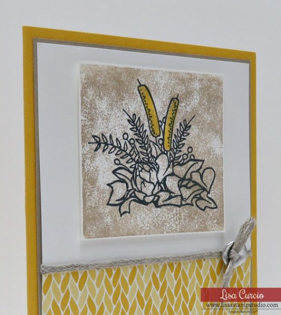 Video tutorial for clear block stamping technique with detailed images. Stampin' Up! Country Home. Image close up view.