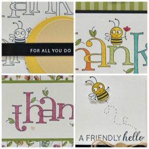 Bee Thankful Card Collection tutorial. Lisa's Stamp Studio
