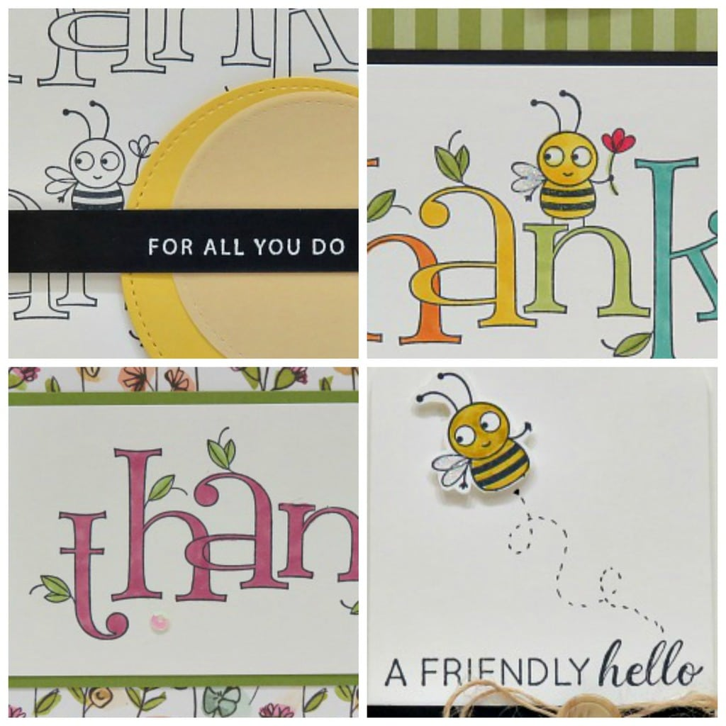 Bee Thankful Card Collection $6