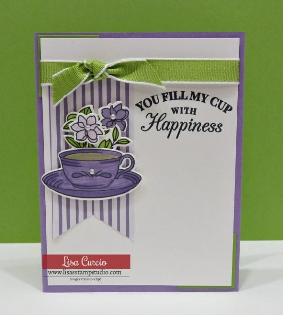 Video tutorial! Easy tea cup card using Time for Tea by Stampin' Up! Stampin' Write marker version.