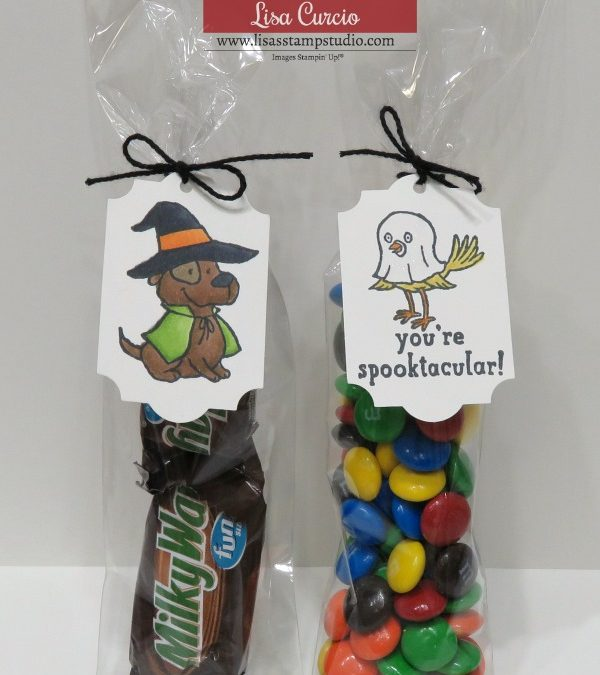 Halloween Party Favors Featuring Trick or Tweet Stamp Set