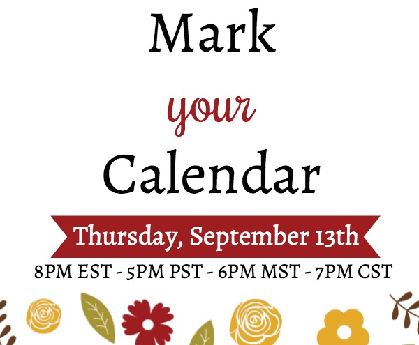Join me LIVE on YouTube for a paper crafting demonstration. Thursday, September 13th. Lisa's Stamp Studio