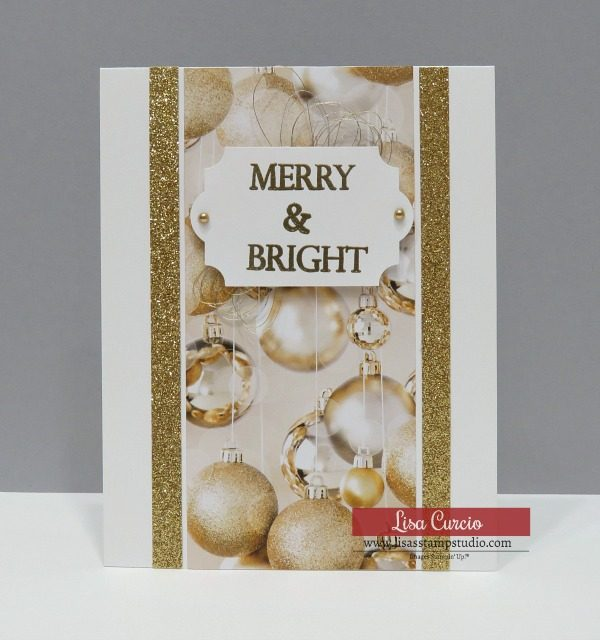 Video tutorial - 5 Minute Christmas Card Tutorial. Merry Christmas to All by Stampin' Up!