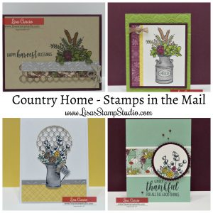 Free card kit with purchase. Lisa's Stamp Studio - Stamps in the Mail. September 2018 Country Home