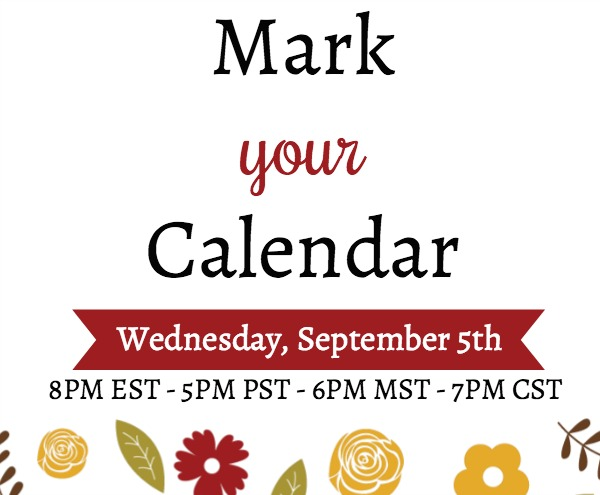 "Join me Live on YouTube September 5th for a special edition ""show & tell"" of Holiday Catalog products. Stampin' Up!"