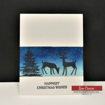 Christmas Card with Masking & Sponging Techniques