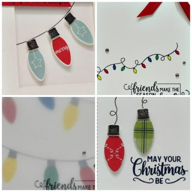 Making Christmas Bright card collection PDF tutorial. Lisa's Stamp Studio