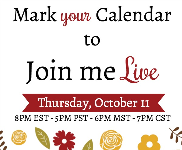 Live on YouTube for a paper crafting demonstration, Thursday, October 11, 2018 8pm EST. Lisa's Stamp Studio
