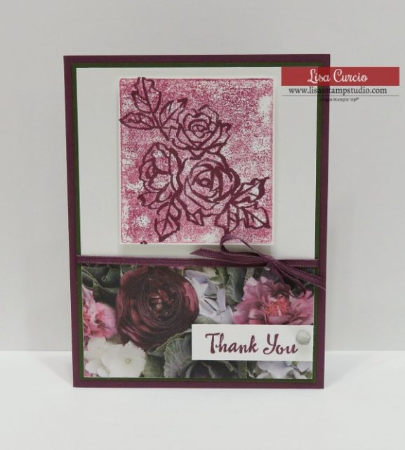 Crazy Crafters Blog Hop inspired by Lisa Curcio. Stampin' Up! Petal Palette