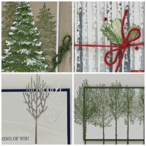 Card Making Kits by Lisa. Winter Woods Bundle. Stampin' Up! PDF Tutorial Card Collection.