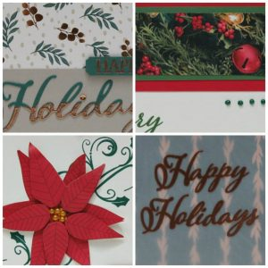 Merry Christmas to All card collection tutorial. Lisa's Stamp Studio