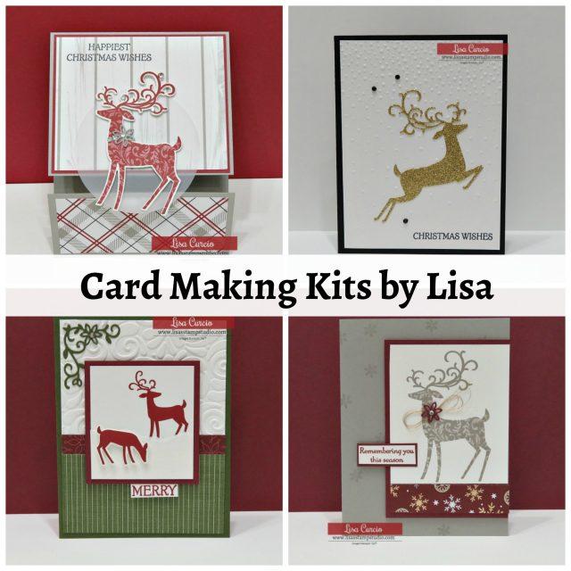 Card making kit by Lisa using the Dashing Deer Bundle - perfect Christmas card kit! Stampin' Up!