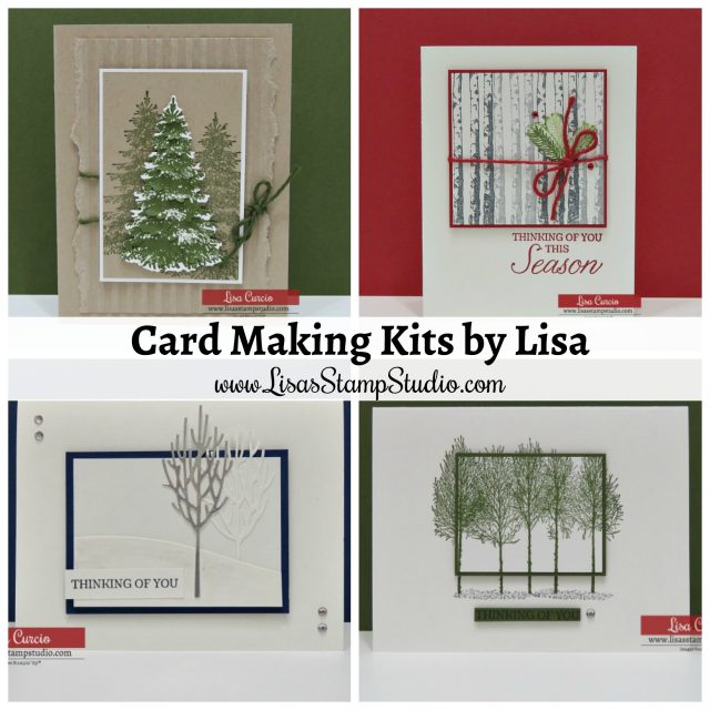 Video! Card Making Kit Introduction by Lisa Curcio. Winter Woods by Stampin' Up!-www.lisasstampstudio.com- #cardmakingkits #cardmaking #greetingcards #stampinupcards #lisacurcio #LisasStampStudio