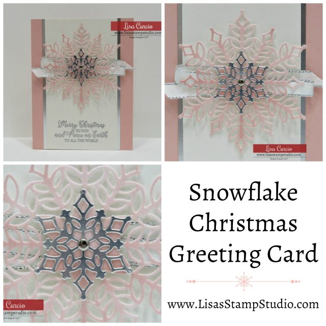 Video tutorial! Color velveteen paper and create beautiful realistic snowflakes. Snowflake Christmas Greeting Card. Snowflake Showcase. Stampin' Up! Collage picture.