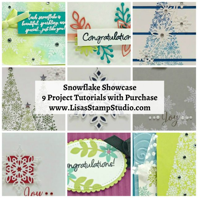 Snowflake Showcase project tutorials. Free with purchase November 1-30 or while the products last. Lisa's Stamp Studio