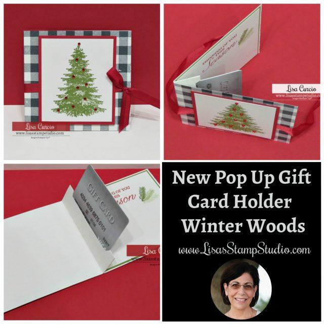 New Pop Up Gift Card Holder | Winter Woods