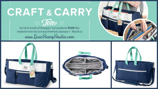 Craft & Carry Tote AND $175 of paper crafting products for only $129 through March 31. Lisa's Stamp Studio - Stampin' Up!