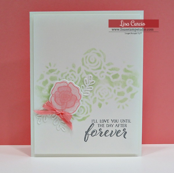Gorgeous Wedding Card & Valentine Day Card uses Forever Lovely by Stampin' Up! Lisa's Stamp Studio
