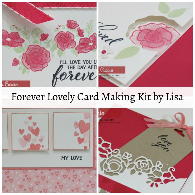 Card Making Kits by Lisa - January 2019 - Forever Lovely. Ordering January 9-12 only using an exclusive code. Lisa's Stamp Studio
